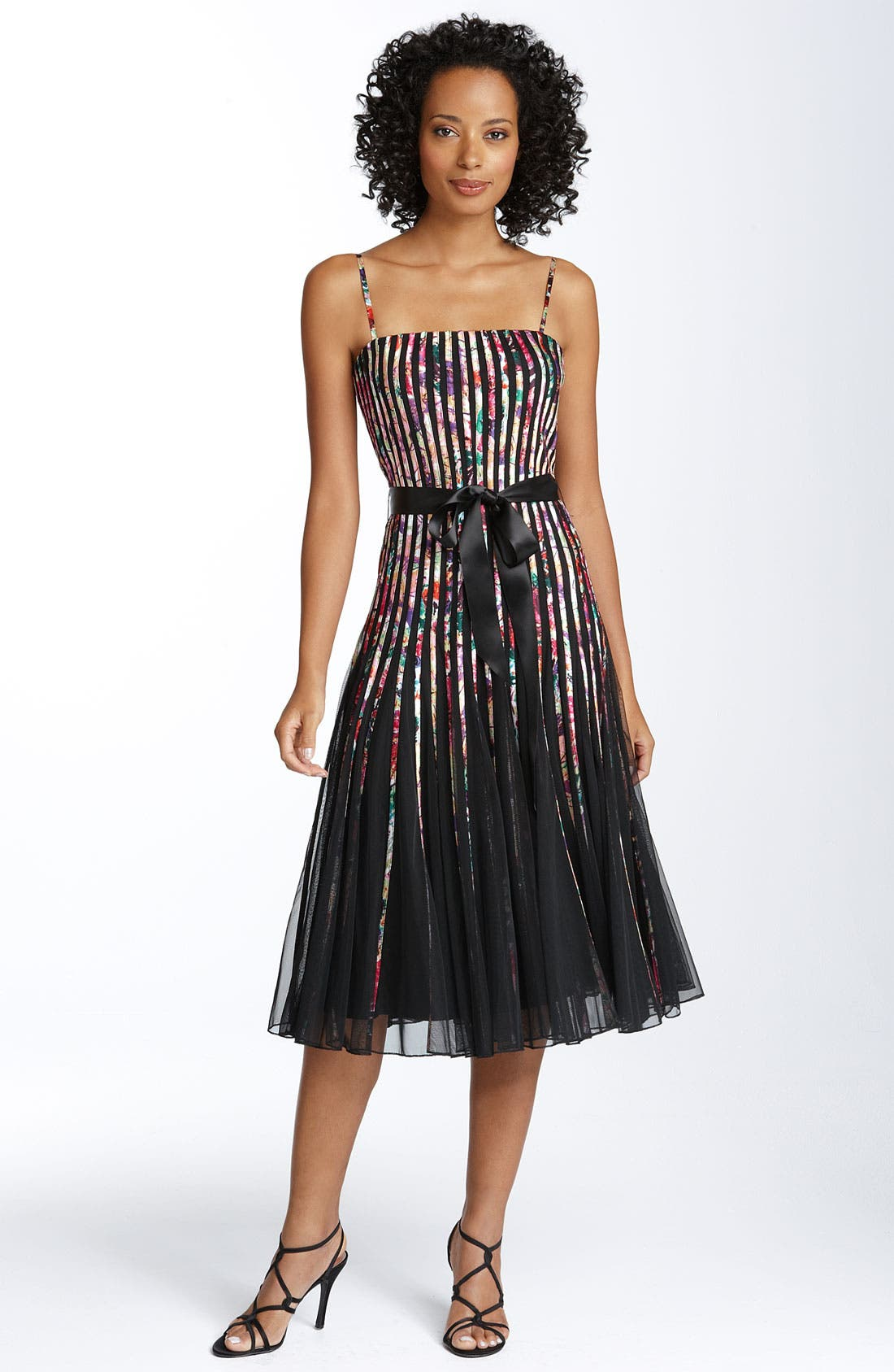 Main Image - JS Collections Ribbon Trim Mesh Dress