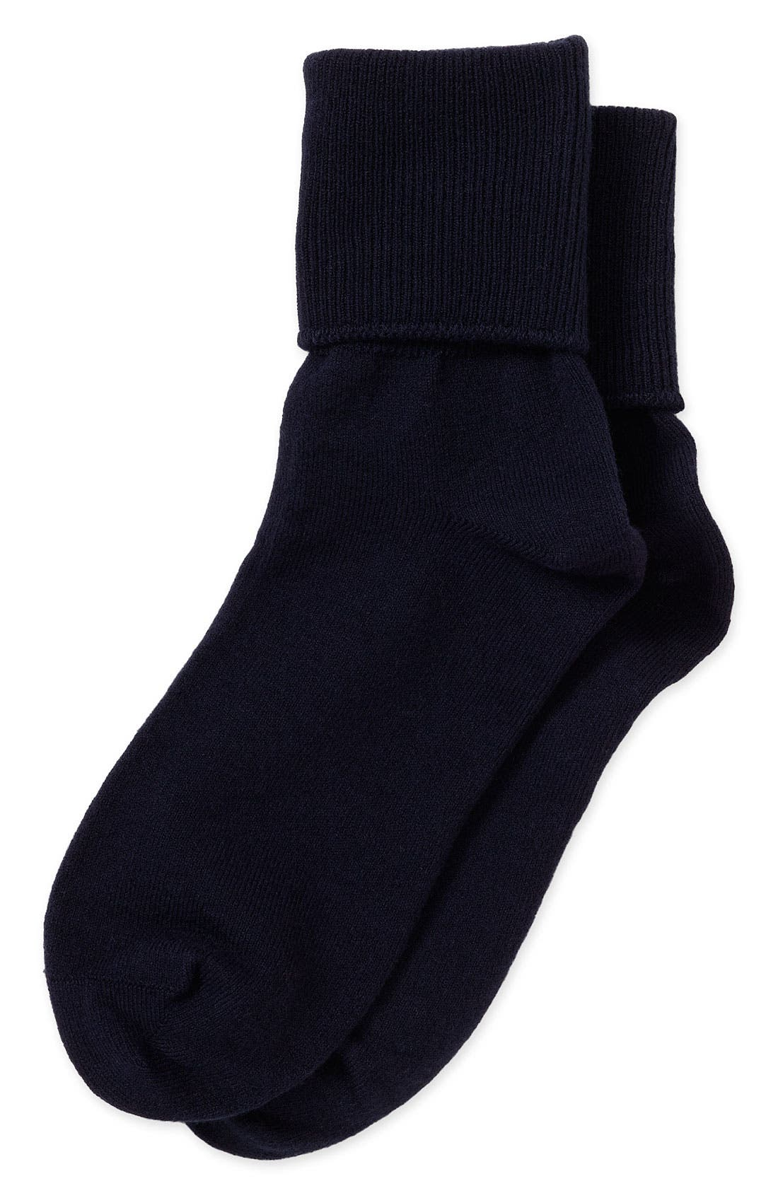 Main Image - Nordstrom Cotton Blend Socks with Turn Cuffs (Baby Girls, Toddler Girls, Little Girls & Big Girls)