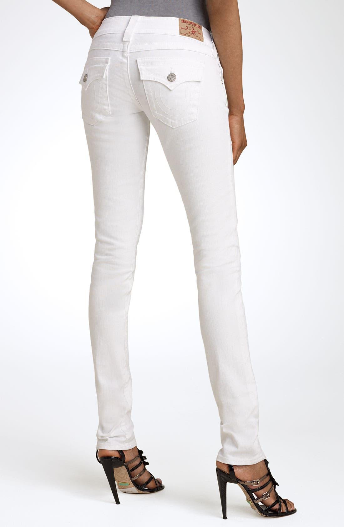 Main Image - True Religion Brand Jeans 'Julie' Skinny Stretch Jeans (Body Rinse White)