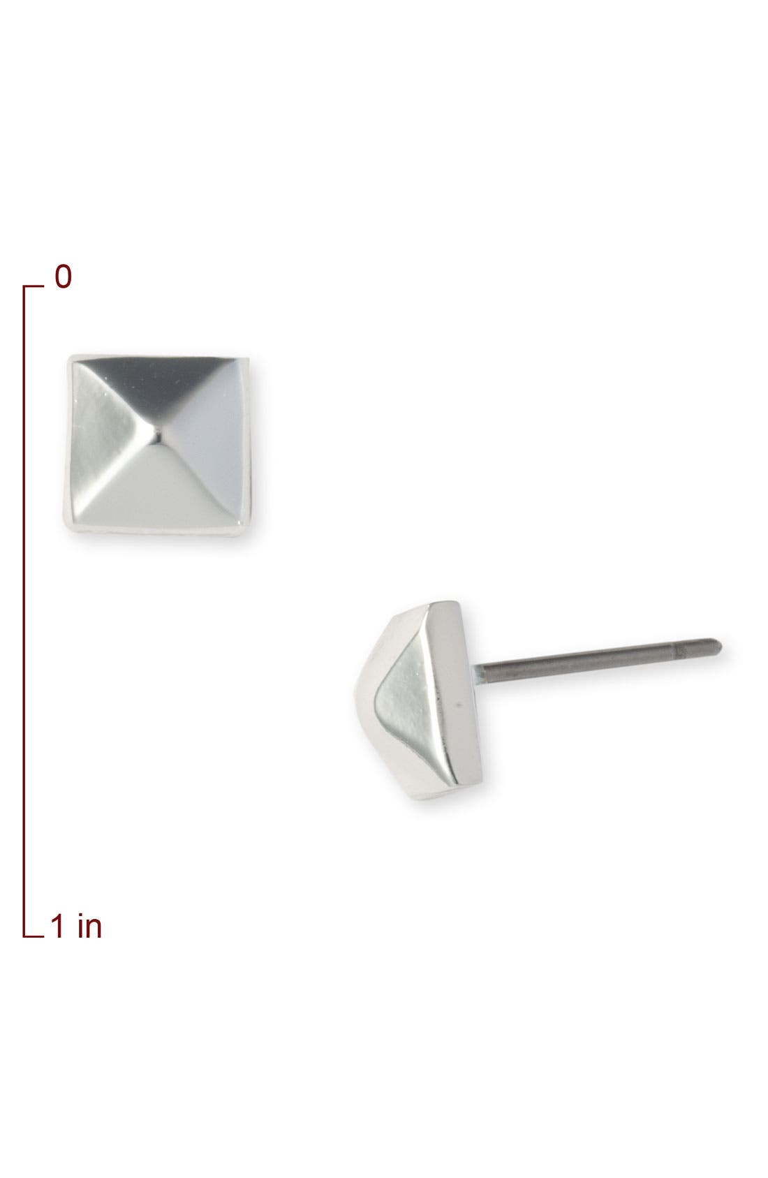 Alternate Image 2  - Nordstrom Small Pyramid Stud Earrings