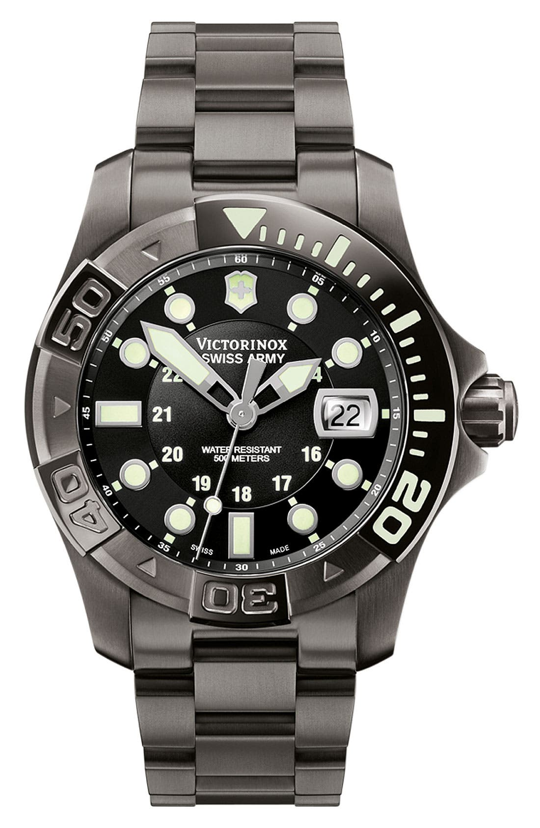 Alternate Image 1 Selected - Victorinox Swiss Army® 'Dive Master' Bracelet Watch, 43mm