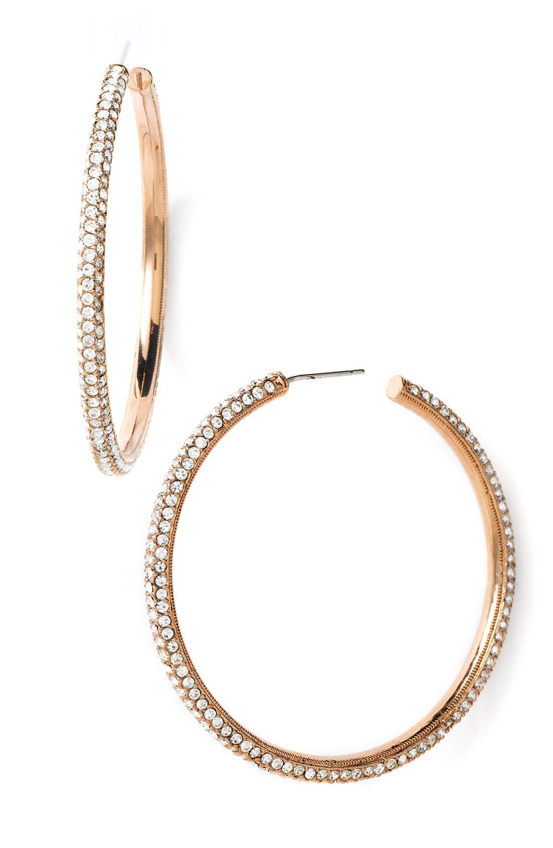 Alternate Image 1 Selected - Nadri Large Pavé Crystal Hoop Earrings
