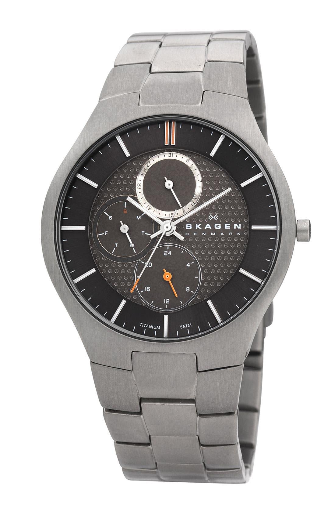 Alternate Image 1 Selected - Skagen Multifunction Bracelet Watch, 40mm