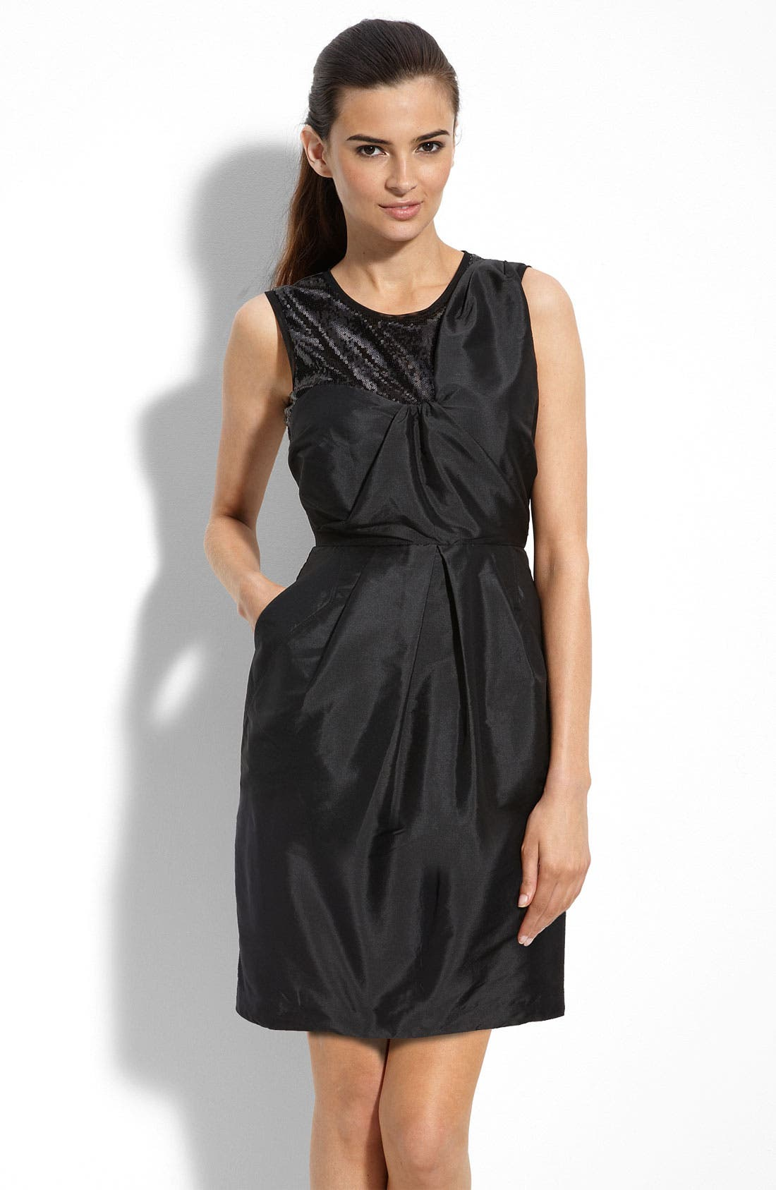 Main Image - Alexia Admor Sequin Trim Taffeta Sheath Dress
