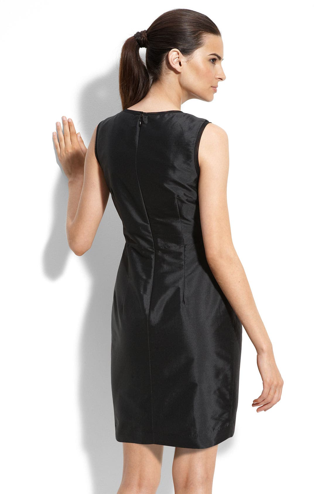Alternate Image 2  - Alexia Admor Sequin Trim Taffeta Sheath Dress