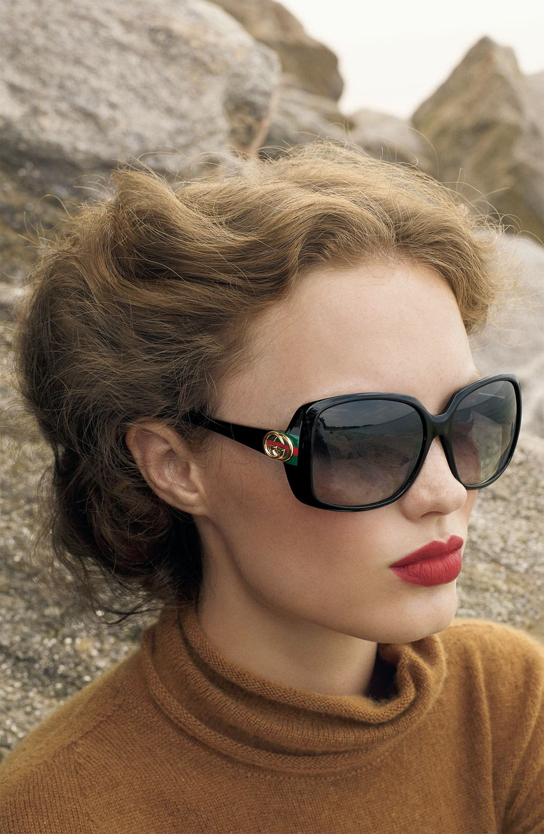 Alternate Image 2  - Gucci 59mm Oversized Square Sunglasses