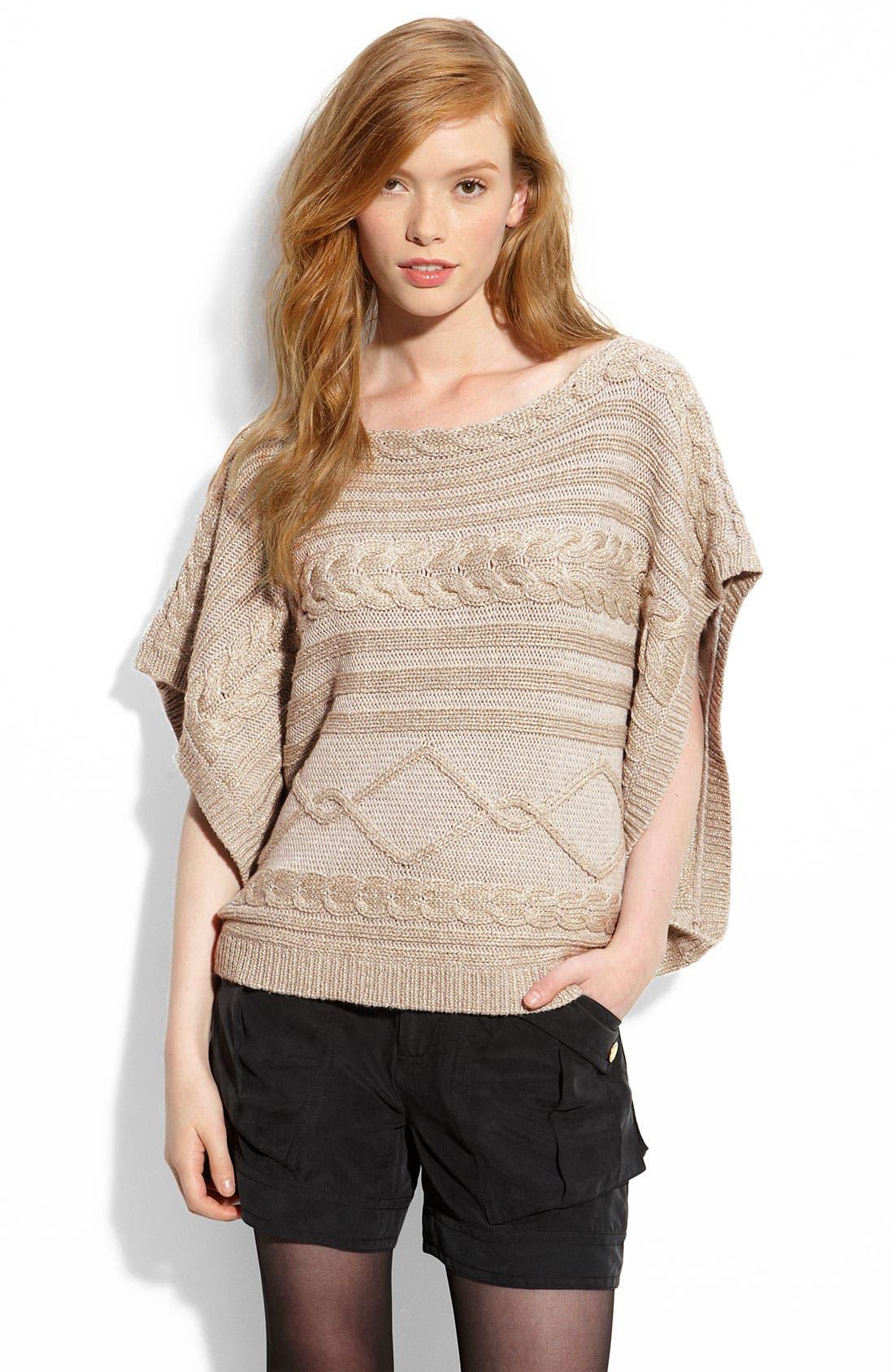 Main Image - LaROK 'Jillian' Metallic Sweater Knit Poncho