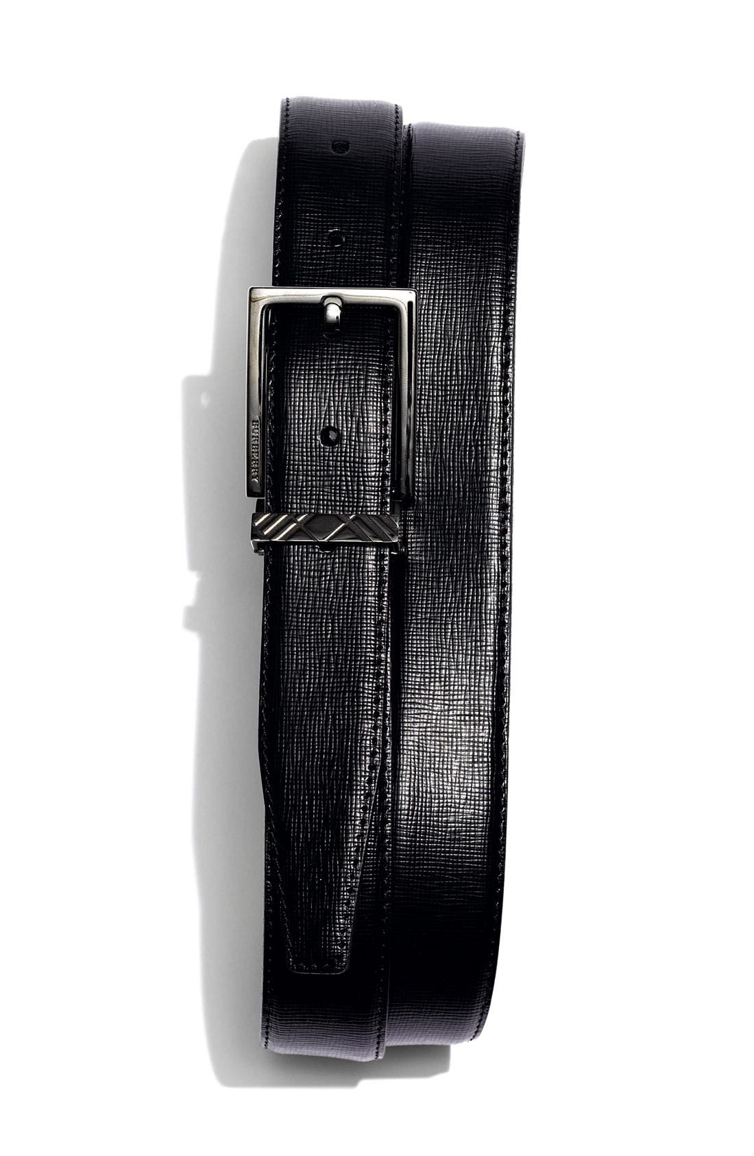 Alternate Image 1 Selected - Burberry Embossed Leather Belt