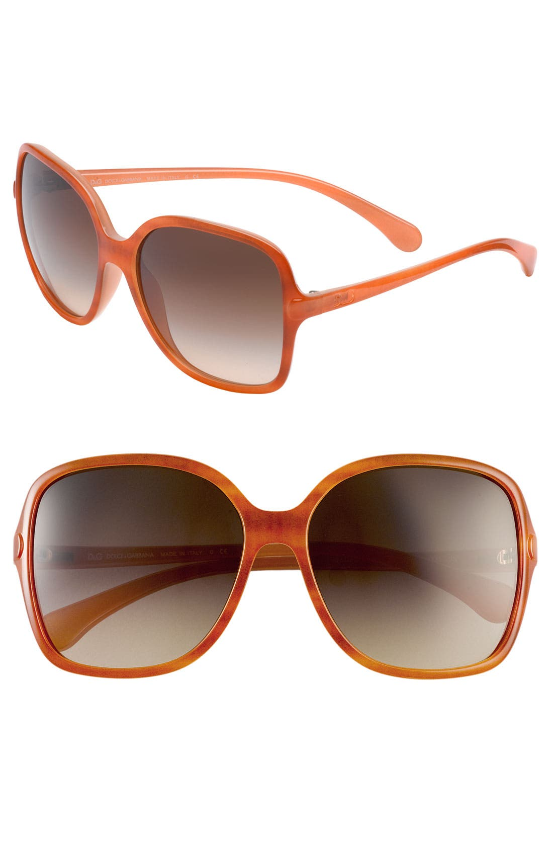 Alternate Image 1 Selected - D&G 'Large Glam' Square Sunglasses