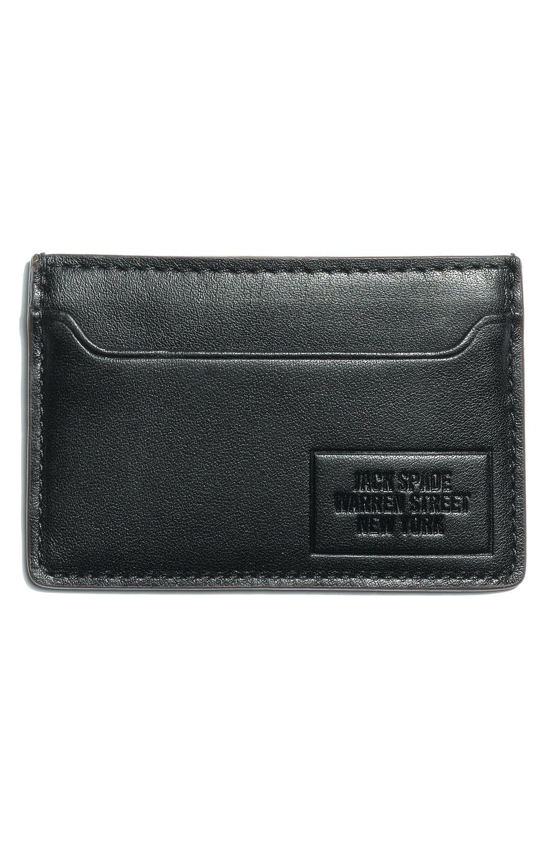 Alternate Image 1 Selected - Jack Spade Leather Credit Card Holder