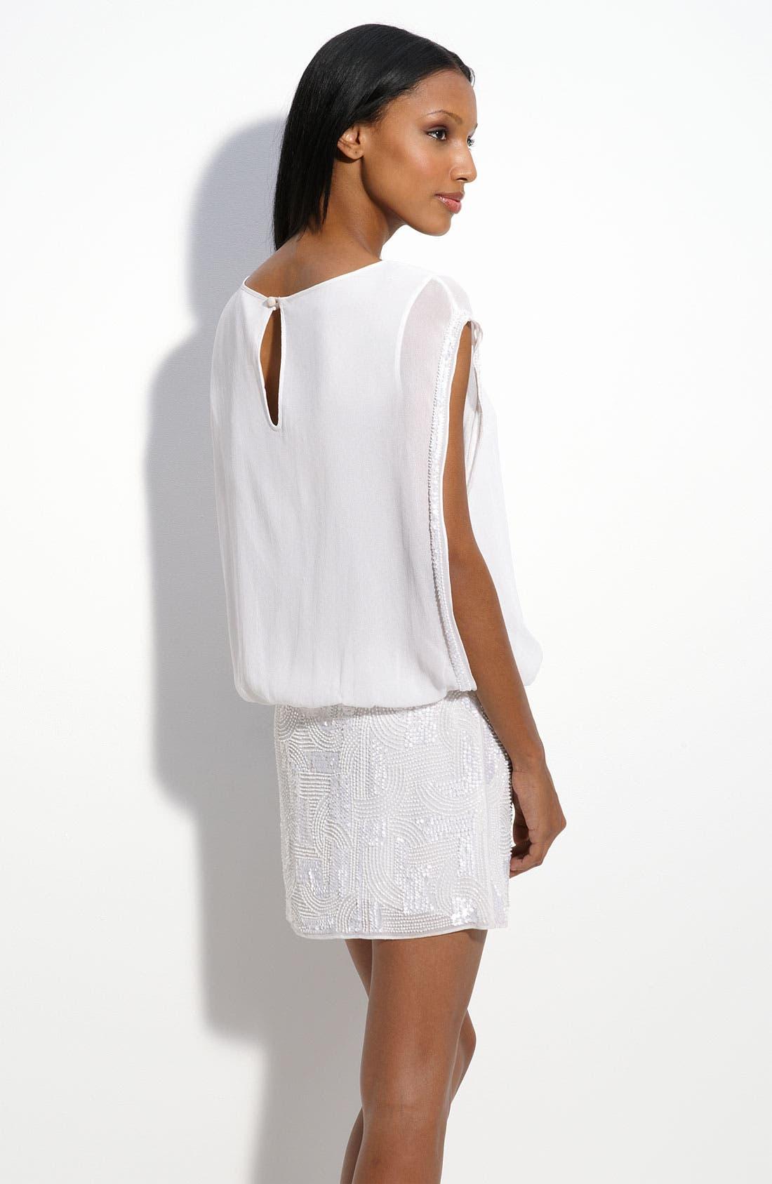 Alternate Image 2  - Aidan Mattox Sequin Skirt Blouson Dress