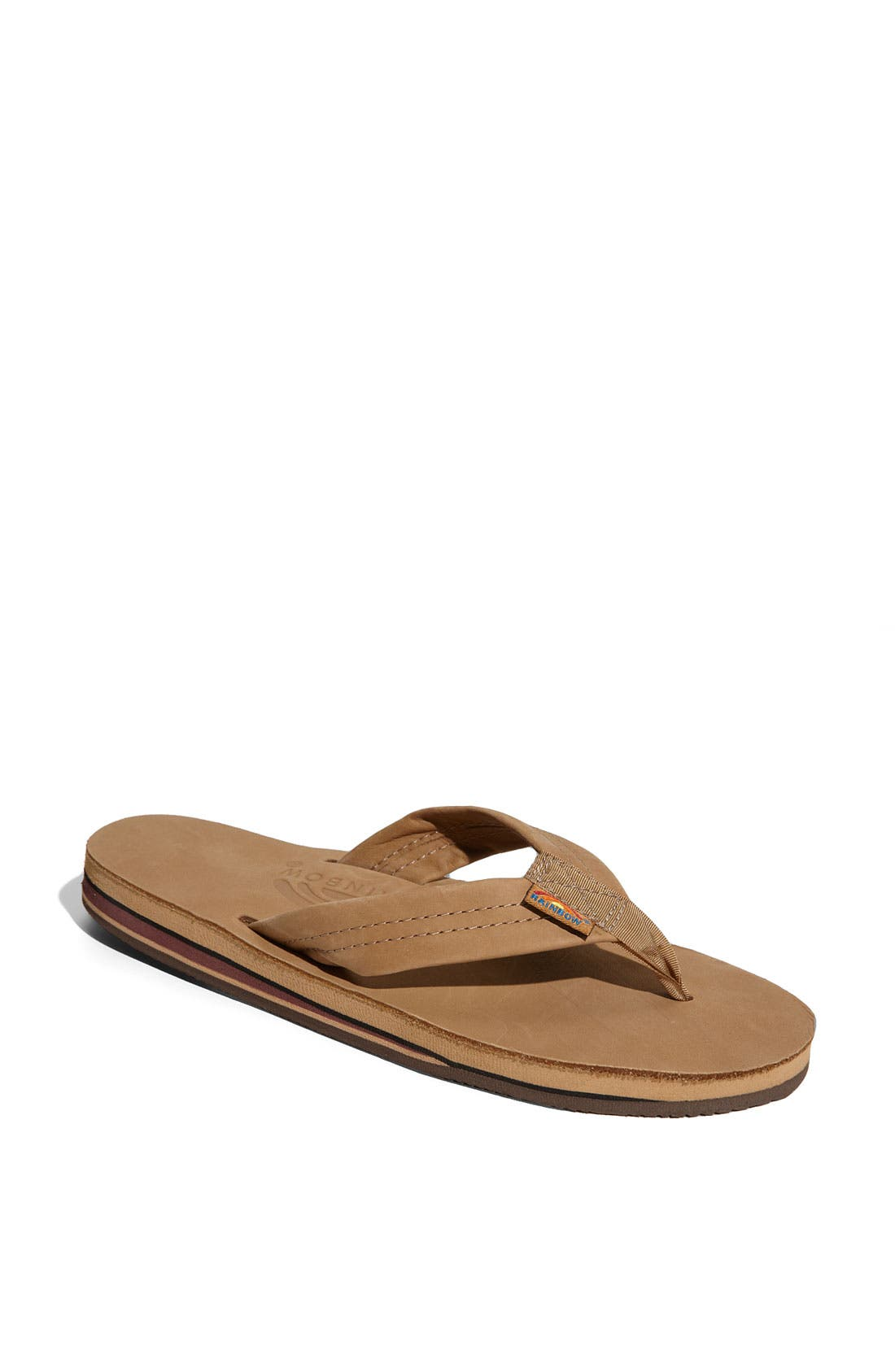 Alternate Image 1 Selected - Rainbow Double Layer Thong Sandal (Women)