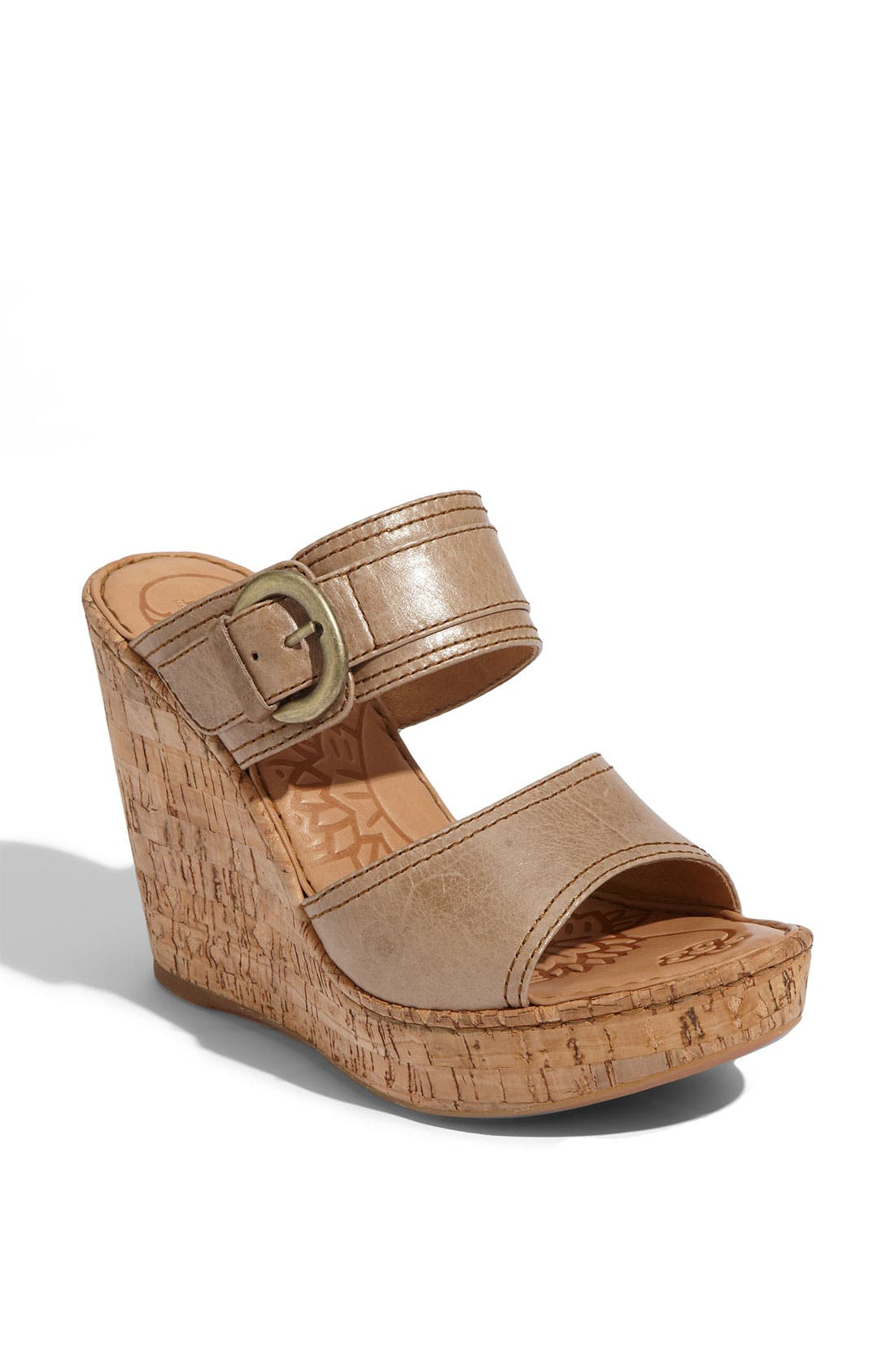 Main Image - Børn 'Zee' Wedge Sandal (Exclusive)