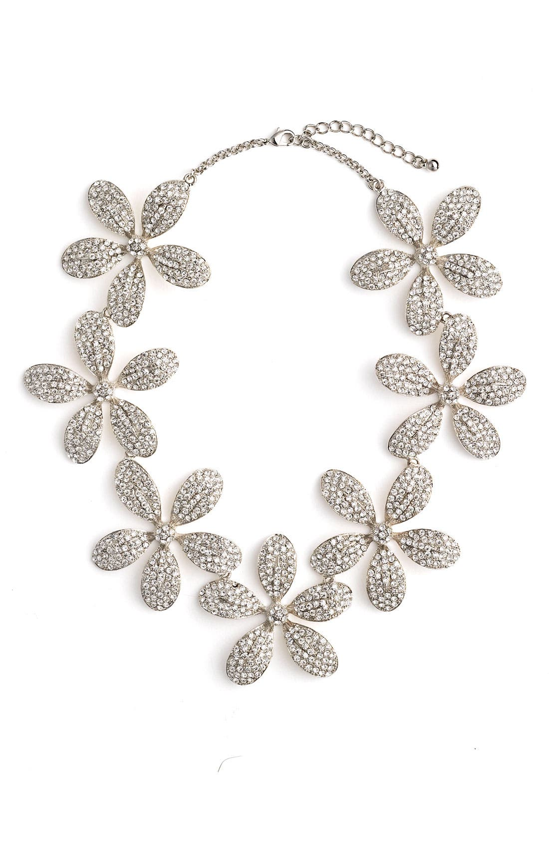 Main Image - Tasha Pavé Flower Statement Necklace