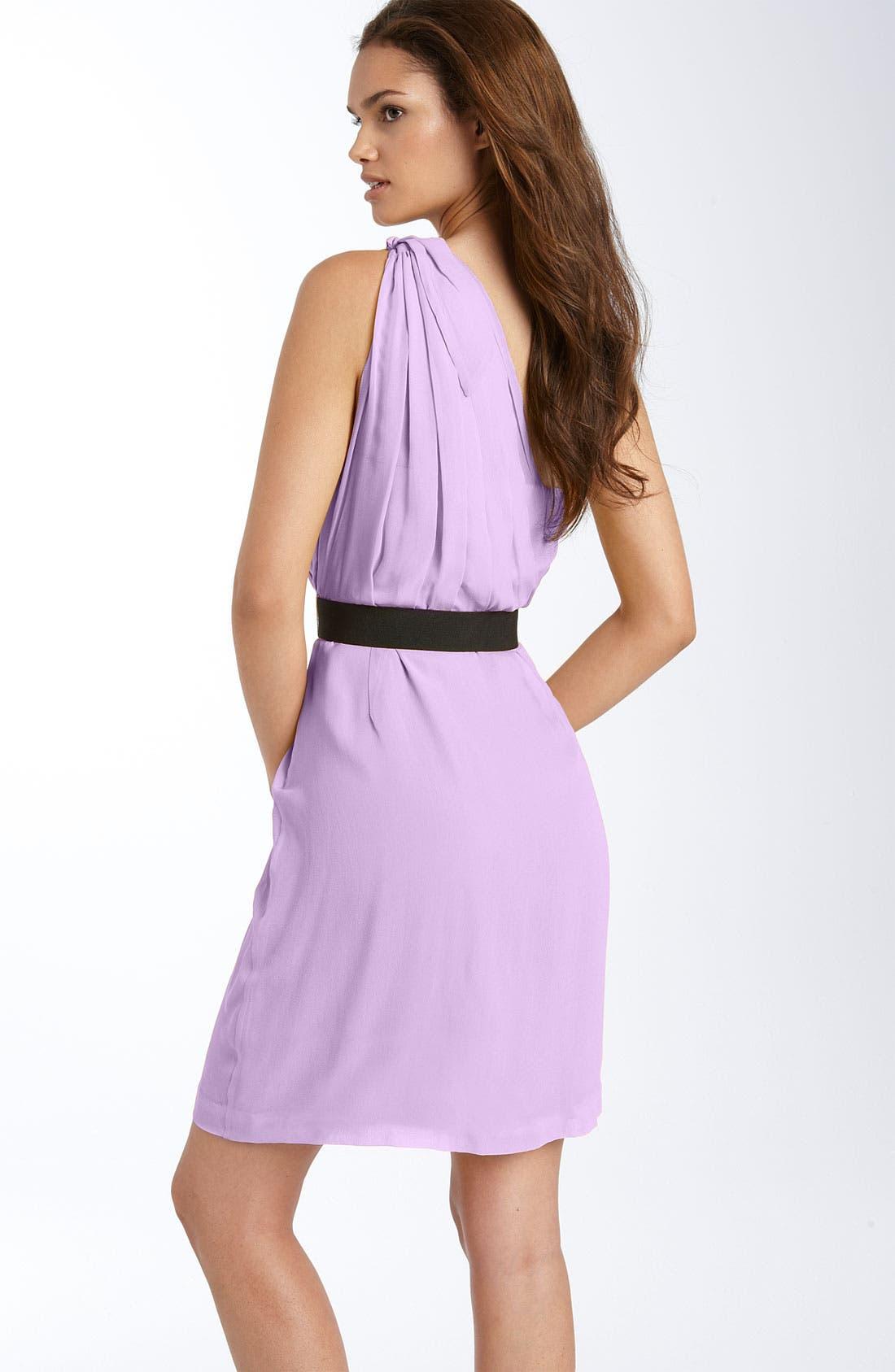 Alternate Image 2  - BCBGMAXAZRIA One Shoulder Chiffon Dress