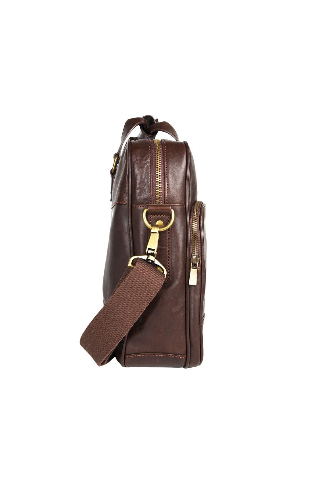 Alternate Image 2  - Bosca Top Zip Leather Briefcase