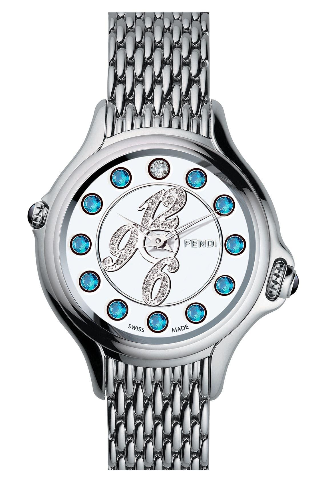 Alternate Image 2  - Fendi 'Crazy Carats' Diamond Bracelet Watch