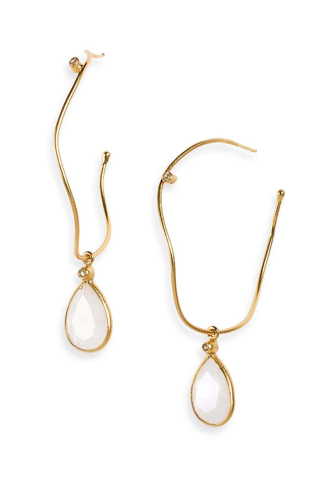 Alternate Image 1 Selected - NuNu Designs Semiprecious Drop Hoop Earrings