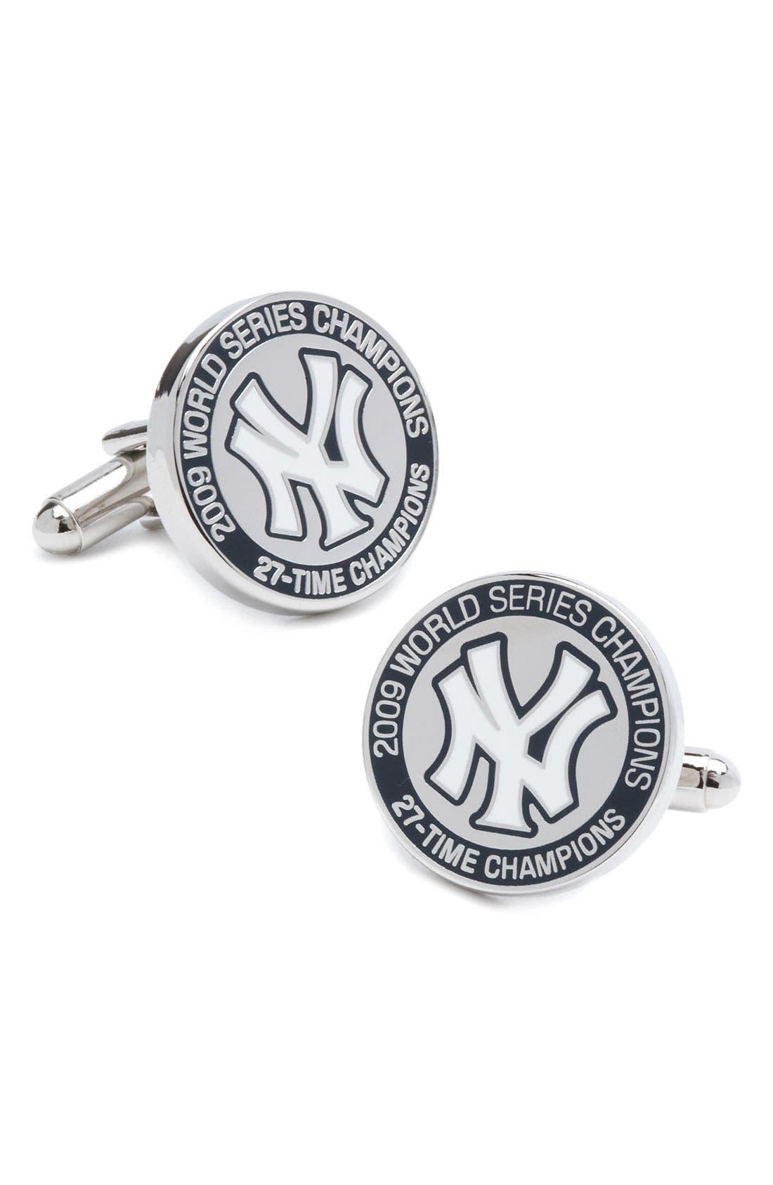 Main Image - Cufflinks, Inc. 'New York Yankees - Champions' Cuff Links