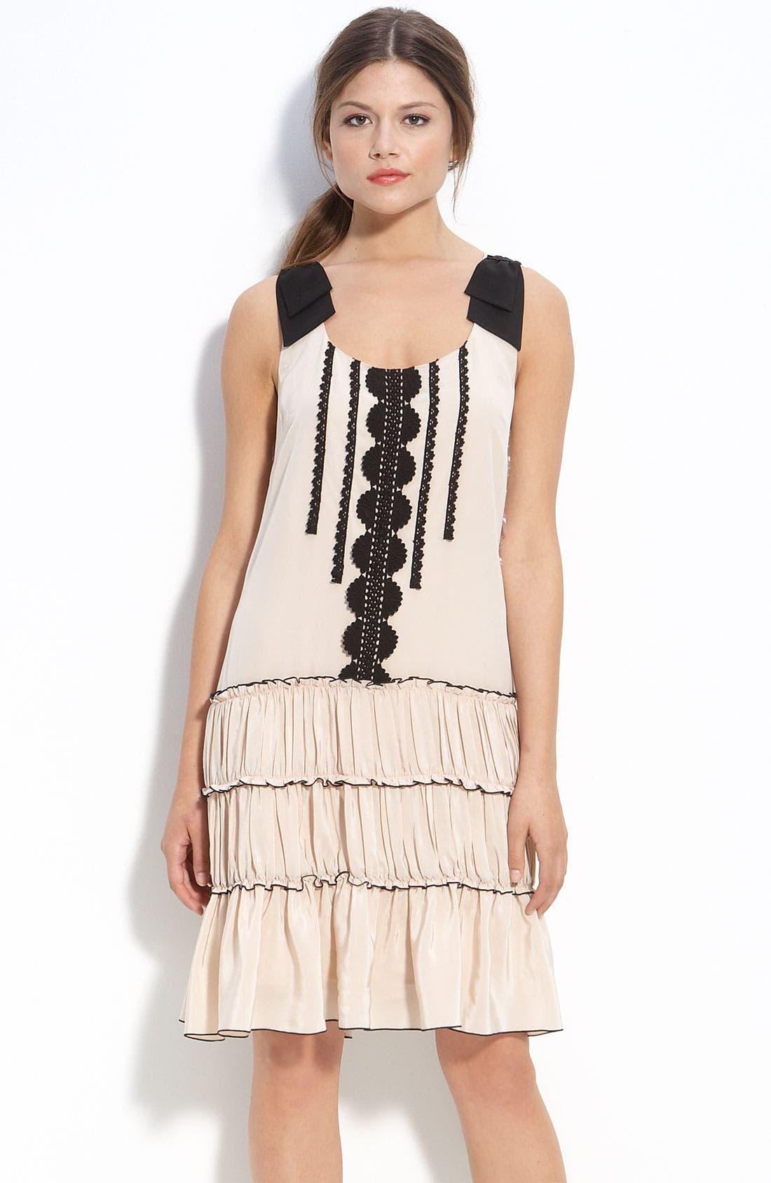 Alternate Image 1 Selected - ECI Chiffon Drop Waist Dress
