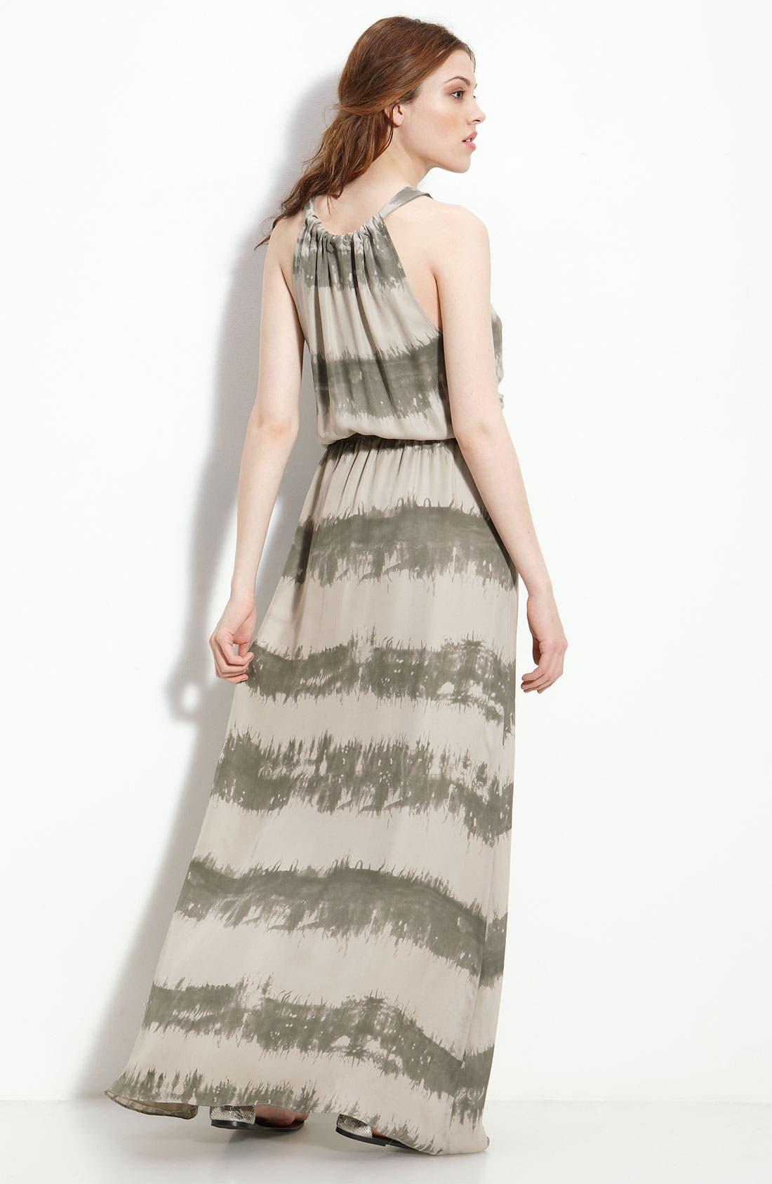 Alternate Image 2  - Parker Tie Neck Silk Georgette Maxi Dress