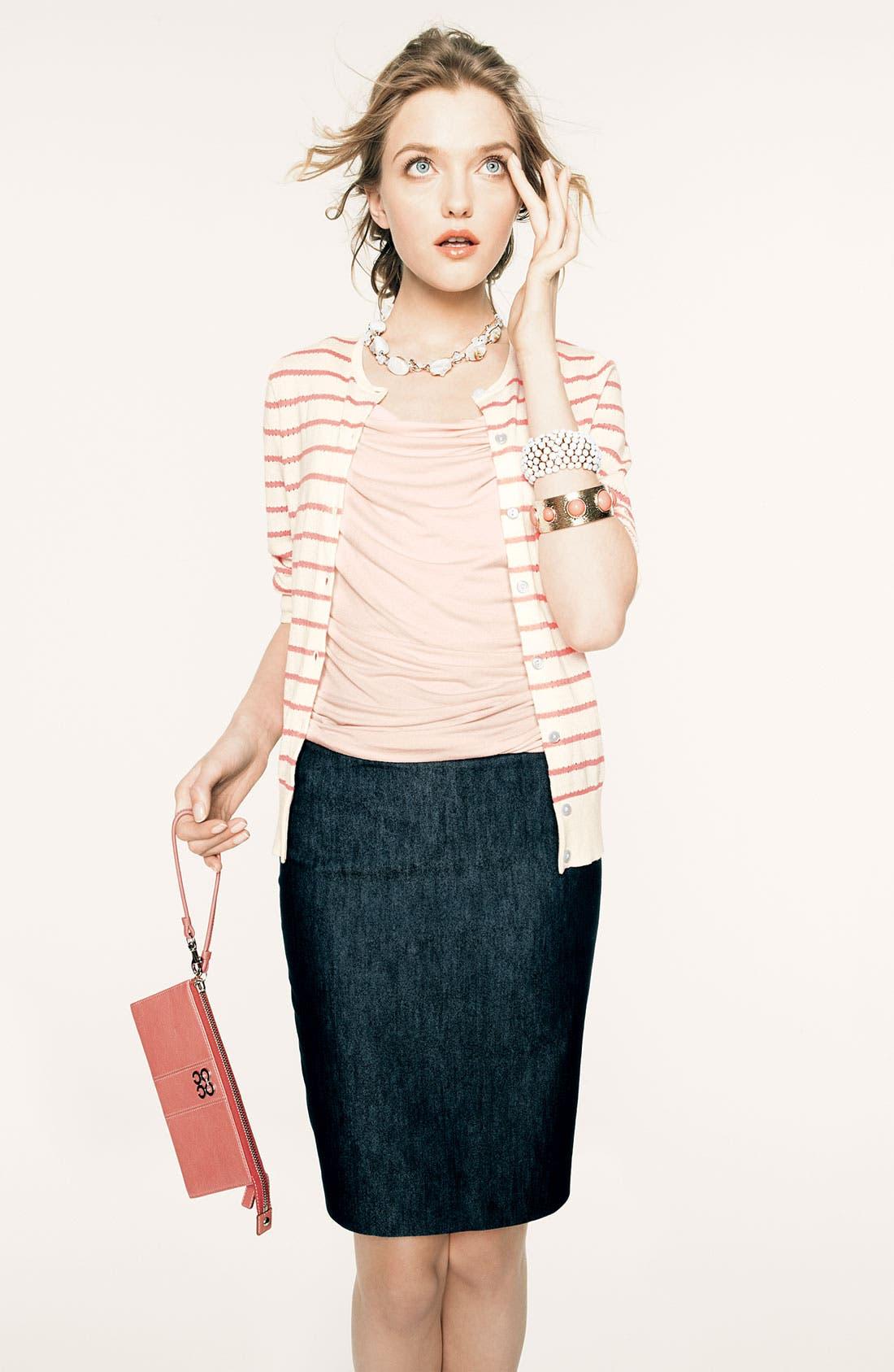 Alternate Image 2  - Halogen® Cotton Sateen Pencil Skirt