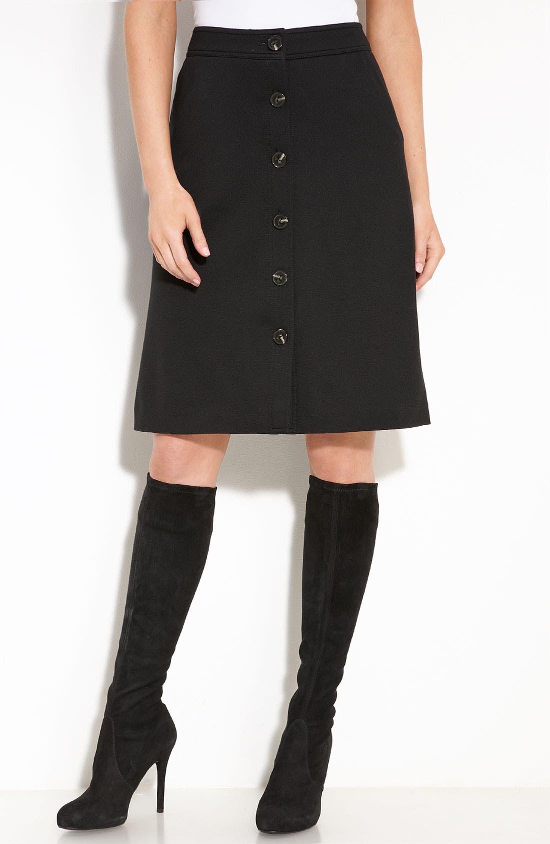 Trina Turk Ponte Knit Boot Skirt