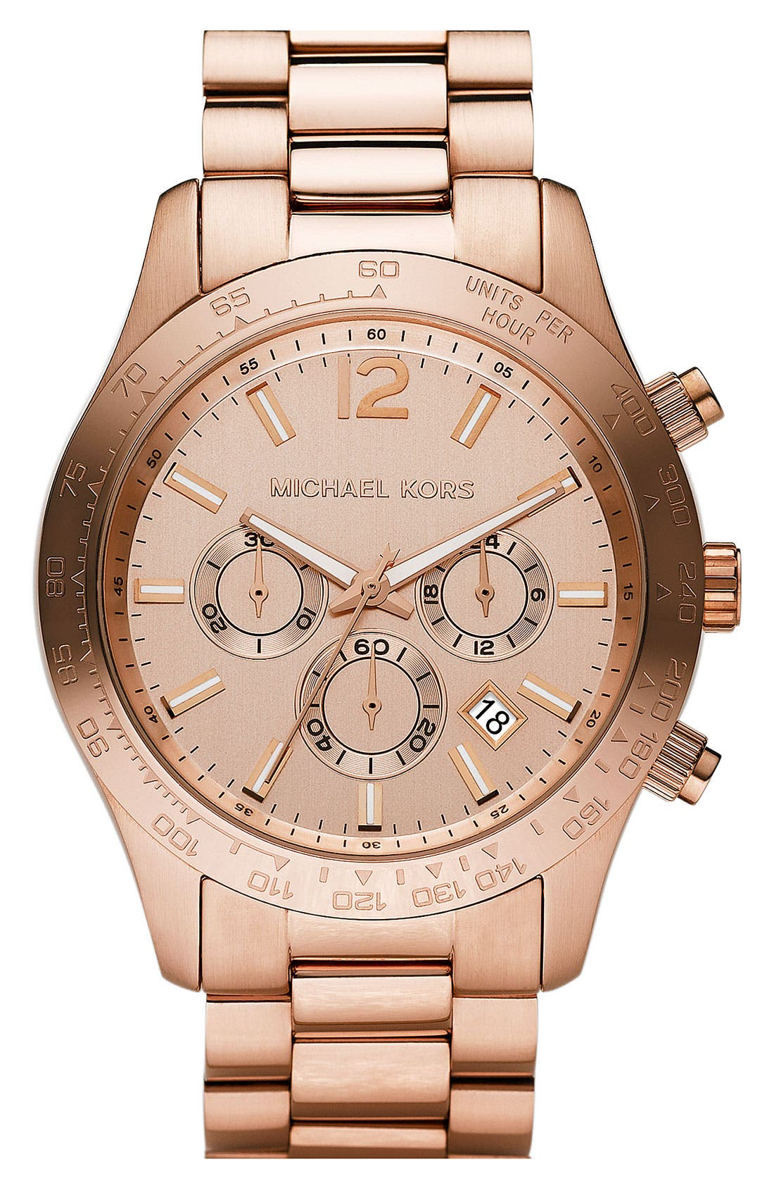 Alternate Image 1 Selected - Michael Kors 'Large Layton' Chronograph Watch