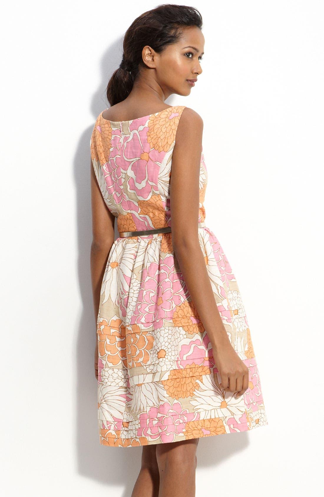 Alternate Image 2  - Eliza J Belted Linen Blend Dress
