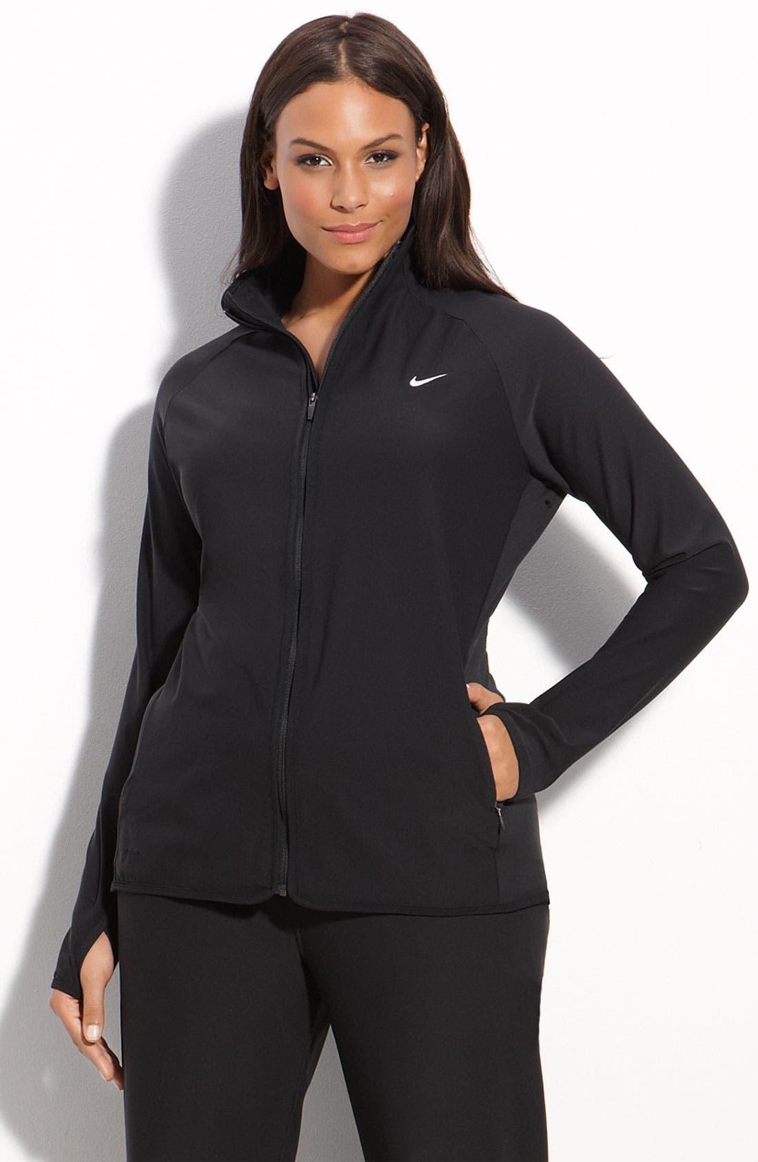 Alternate Image 1 Selected - Nike Zip Front Workout Jacket (Plus)