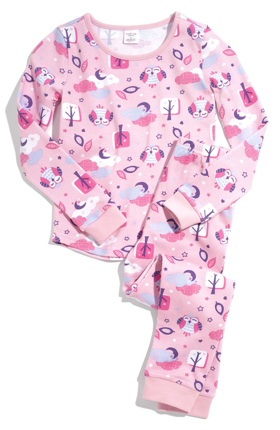 Main Image - Sweet Ivy Fitted Pajamas (Little Girls)