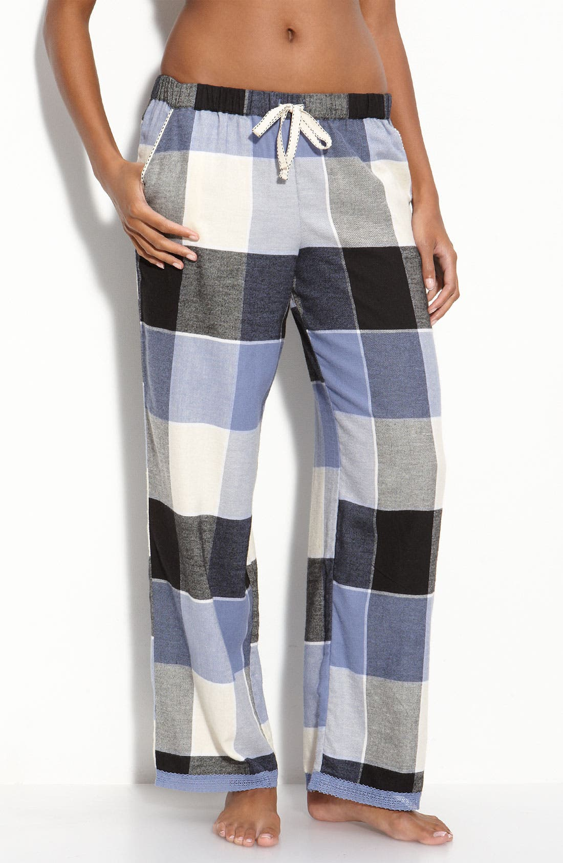 Main Image - DKNY 'Checked In' Pajama Pants