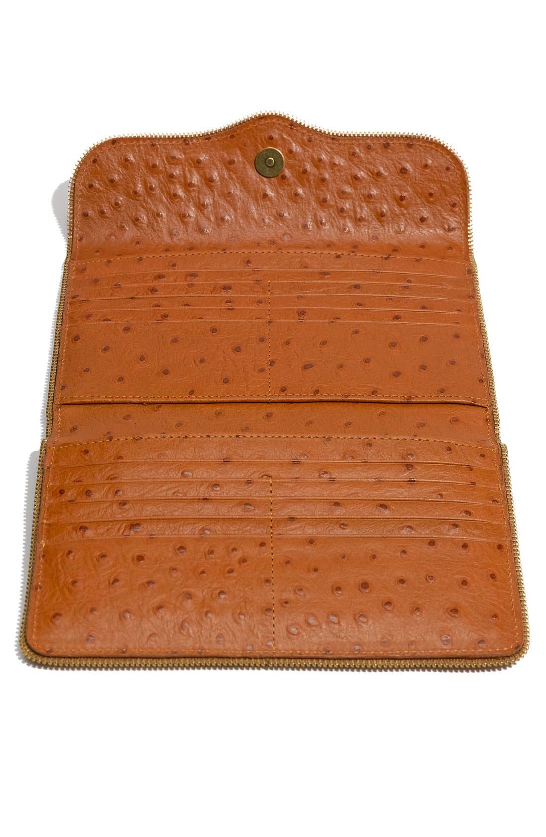 Alternate Image 3  - Rebecca Minkoff 'Passport' Ostrich Embossed Flap Wallet