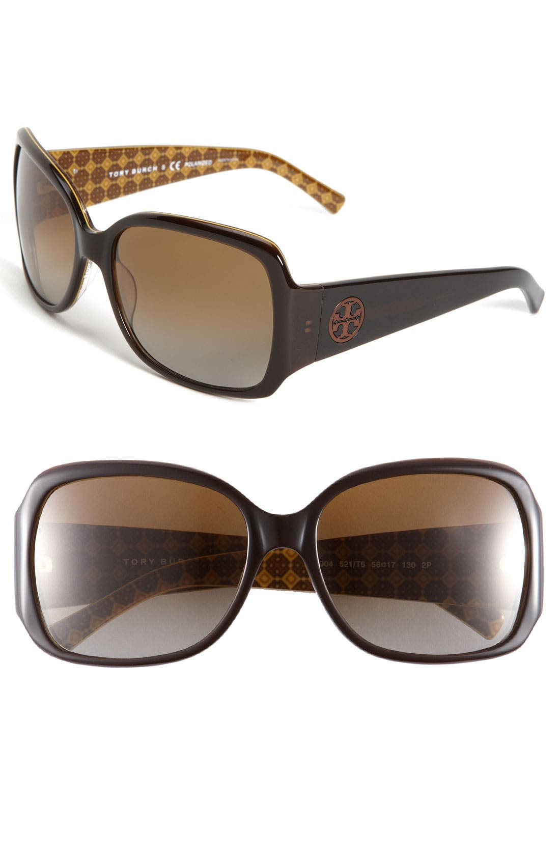 Alternate Image 1 Selected - Tory Burch Polarized Square Sunglasses