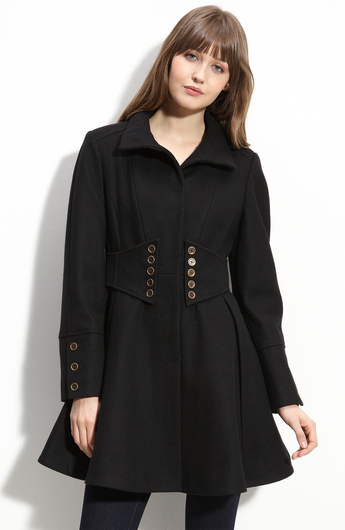 Main Image - Betsey Johnson Military Style Coat