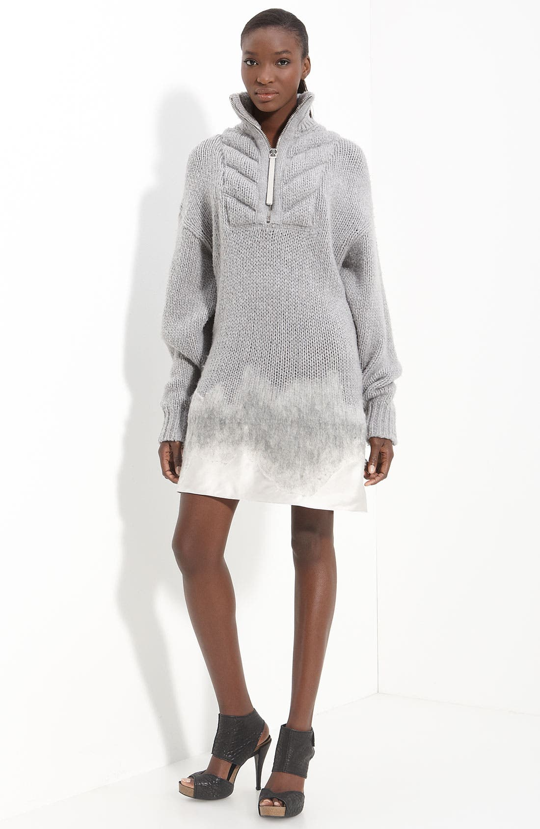 Alternate Image 1 Selected - Alexander Wang Satin Hem Sweater Dress