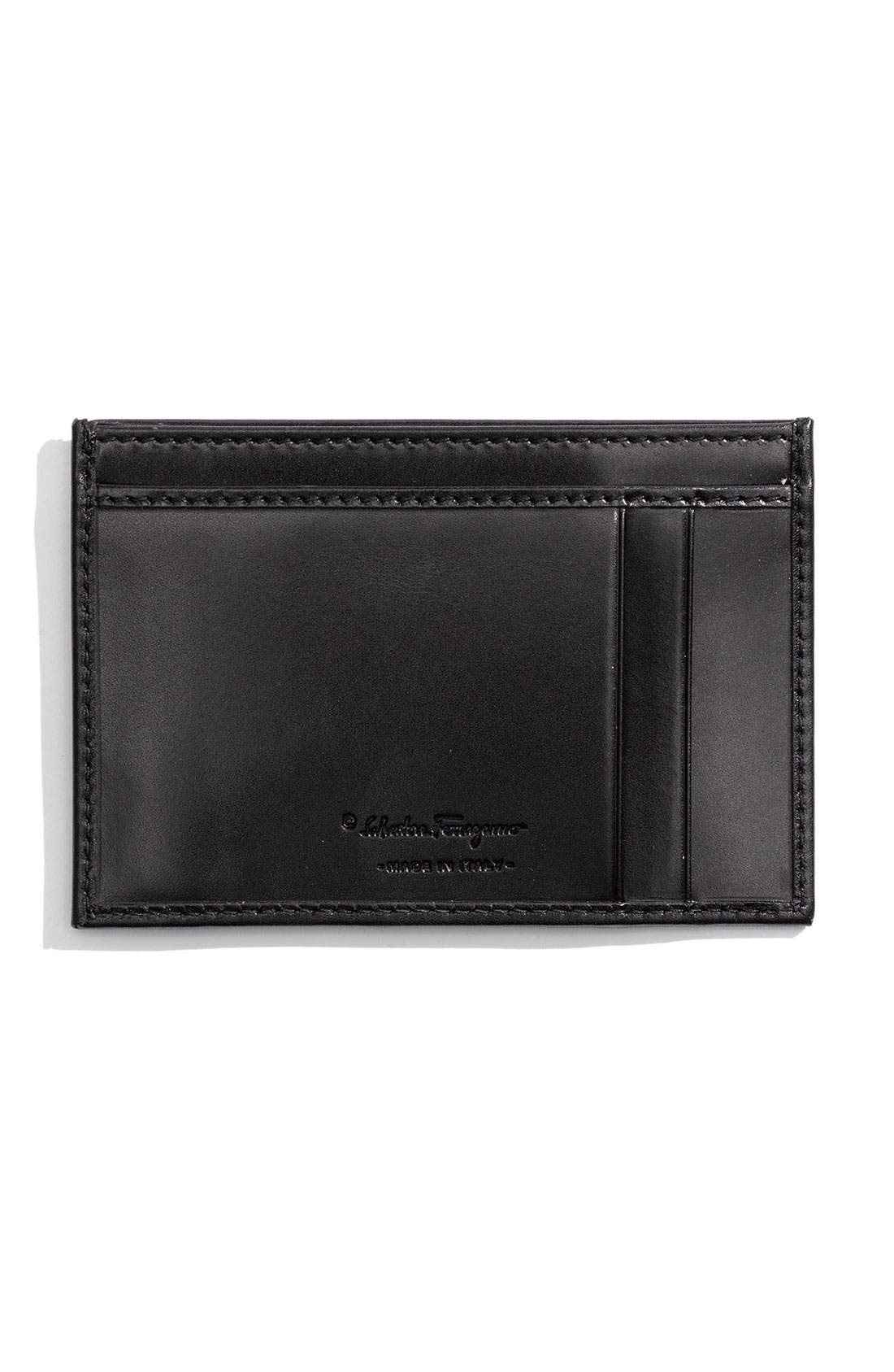 Alternate Image 2  - Salvatore Ferragamo 'Montecarlo' Card Case
