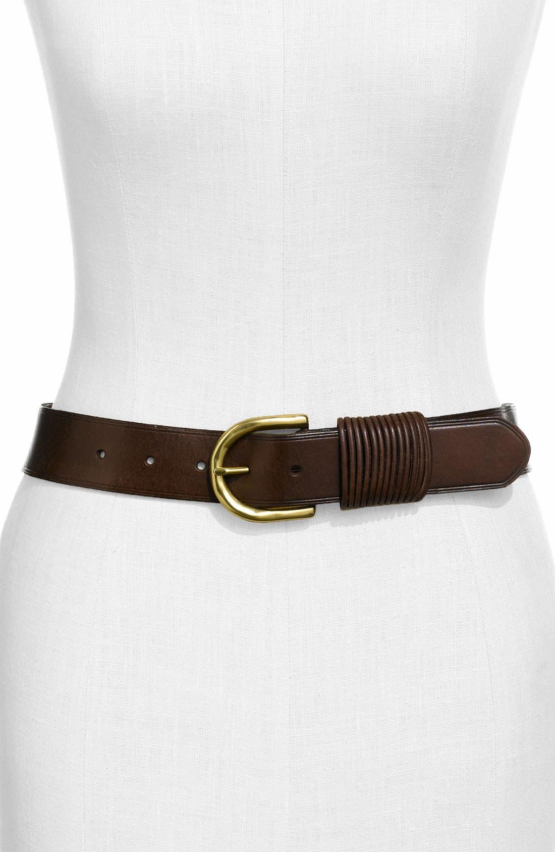 Main Image - Lauren Ralph Lauren Vegetable Tanned Leather Belt