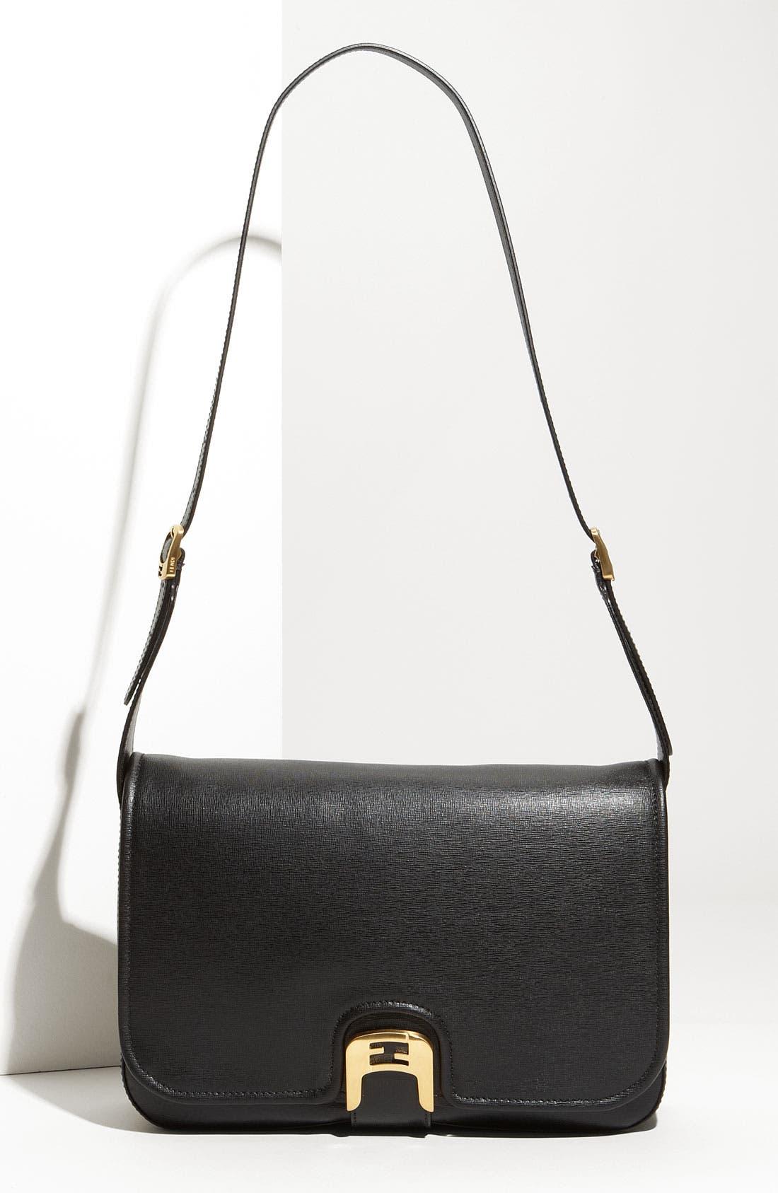 Main Image - Fendi 'Chameleon' Leather Shoulder Bag