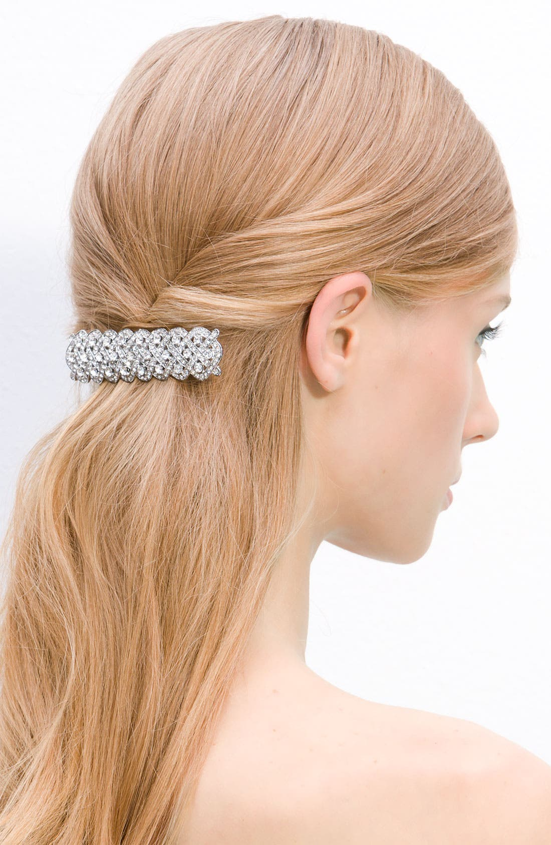 Alternate Image 1 Selected - Tasha Braided Crystal Barrette