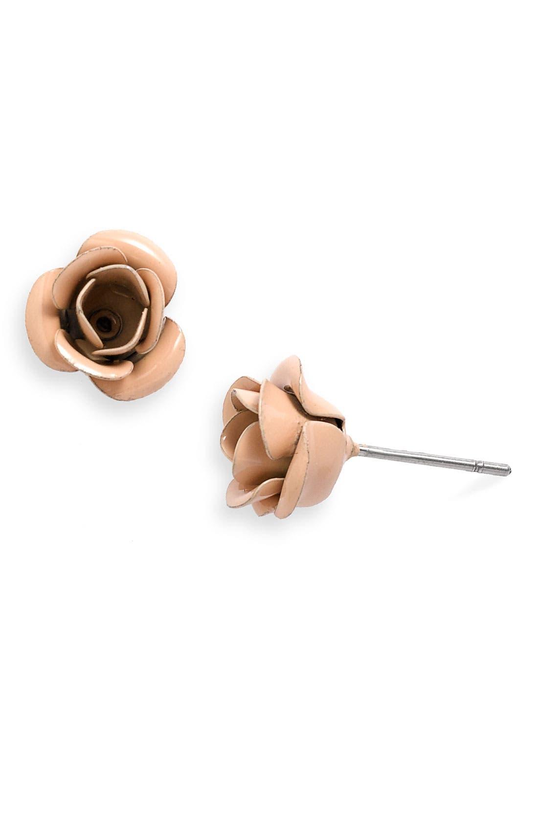 Alternate Image 1 Selected - Under One Sky Rose Stud Earrings