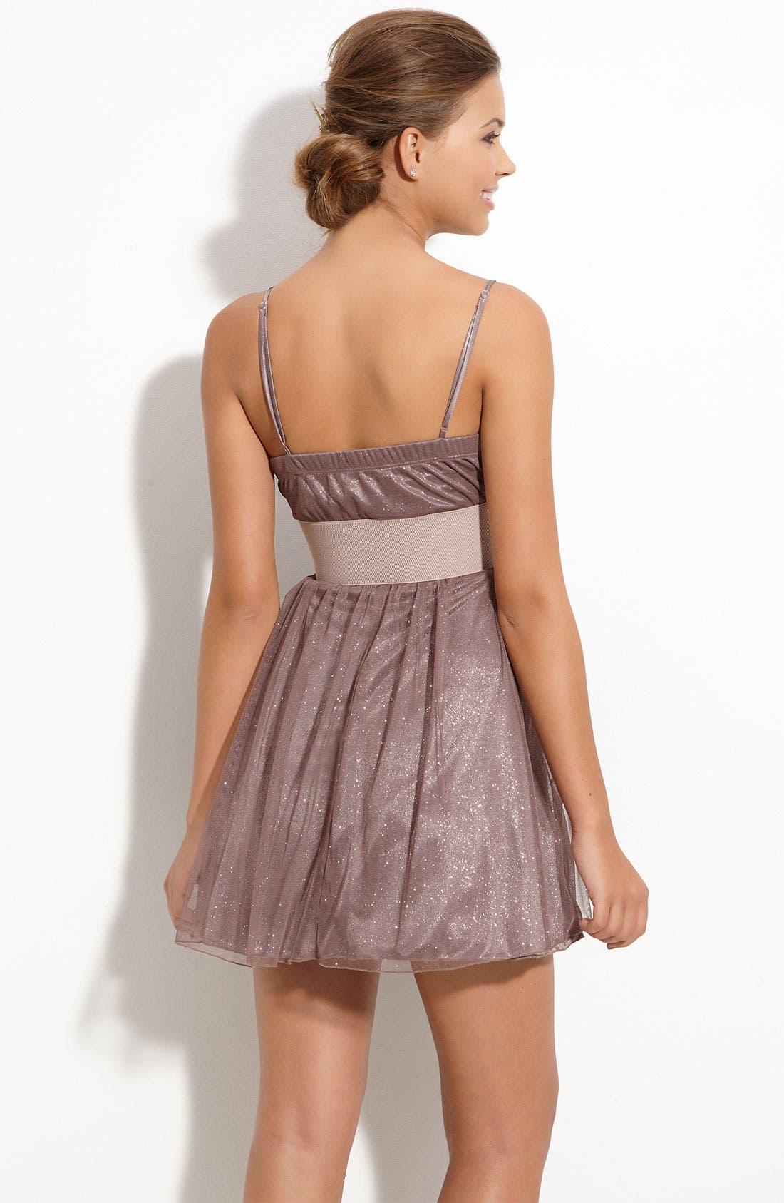 Alternate Image 2  - Accidentally In Love Glitter Dress (Juniors)