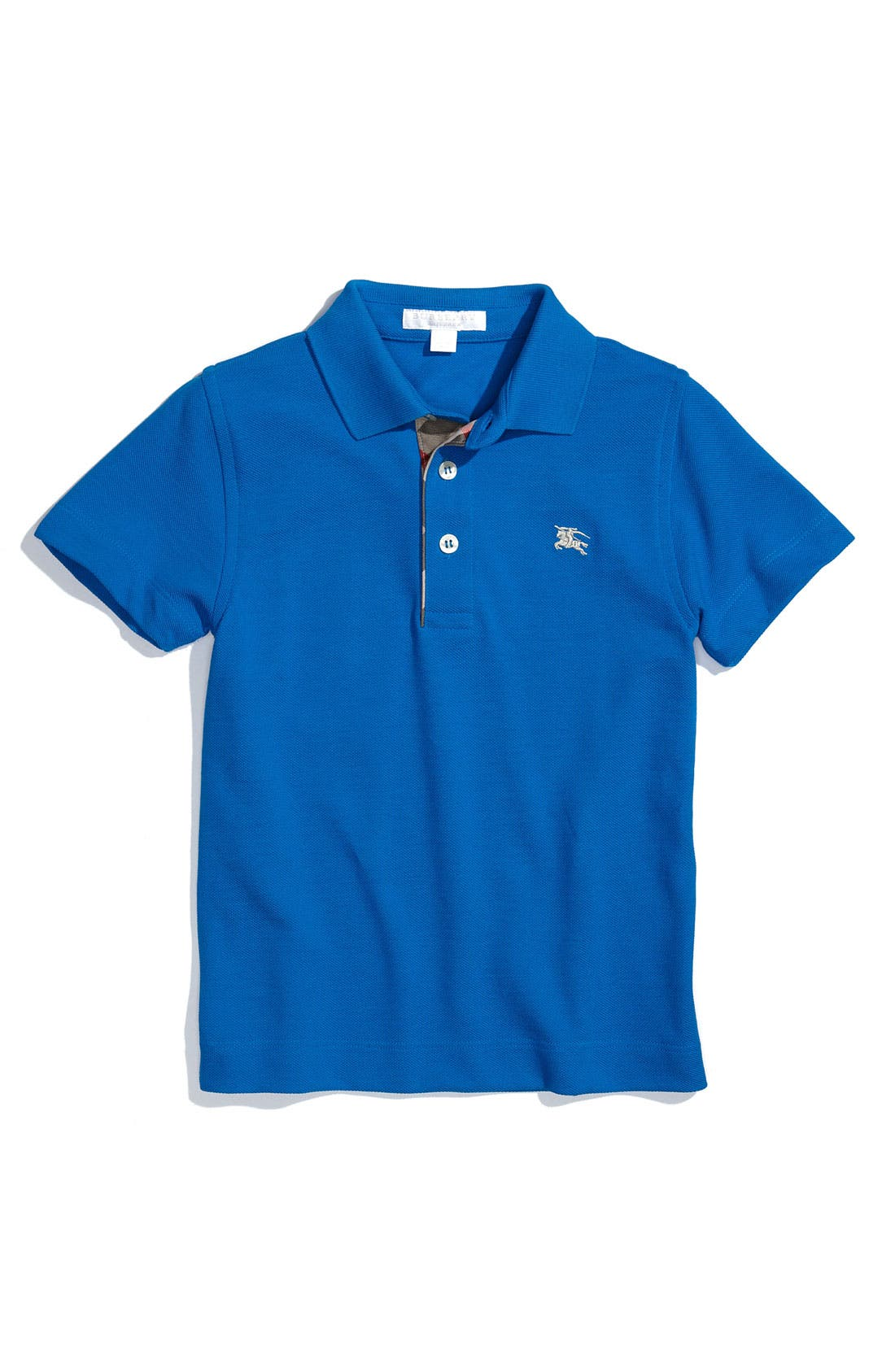 Main Image - Burberry Short Sleeve Piqué Polo (Little Boys)