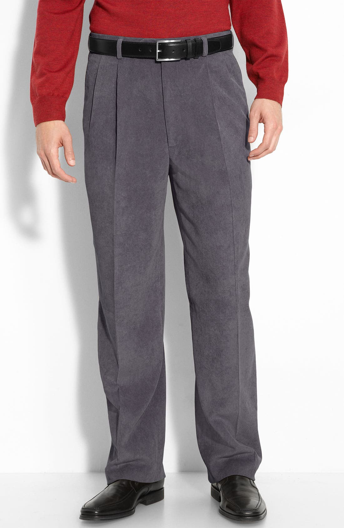 Linea Naturale 'Updated Micro-Aire' Pleated Corduroy Pants | Nordstrom