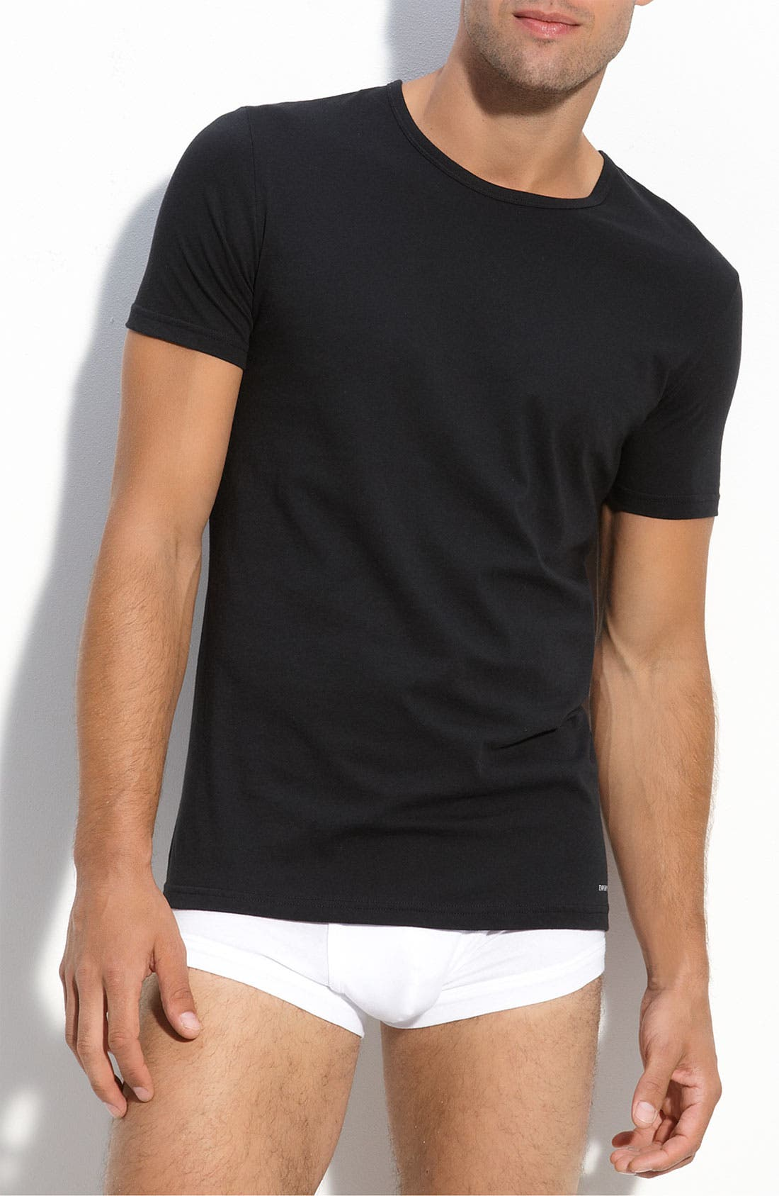 Alternate Image 1 Selected - Emporio Armani Crewneck T-Shirt (3-Pack)