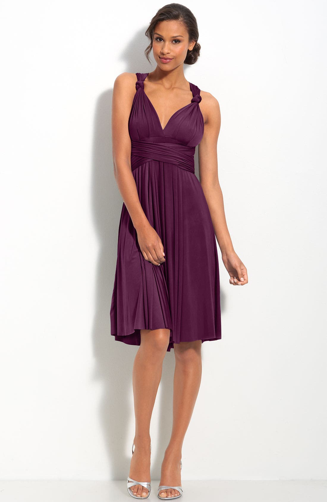 Alternate Image 1 Selected - twobirds Convertible Jersey Gown (Regular & Plus)