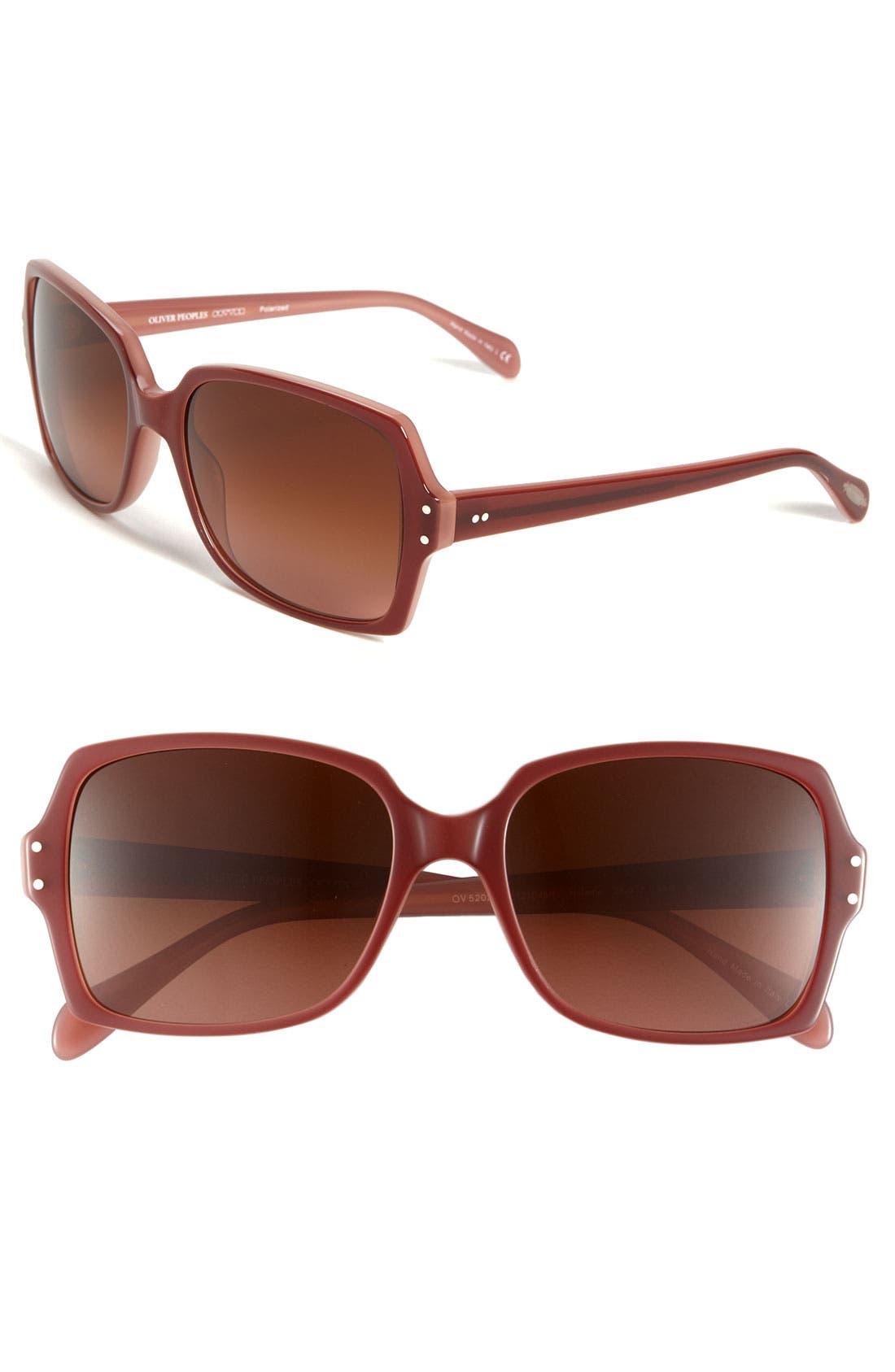 Alternate Image 1 Selected - Oliver Peoples 'Helaine' 56mm Sunglasses