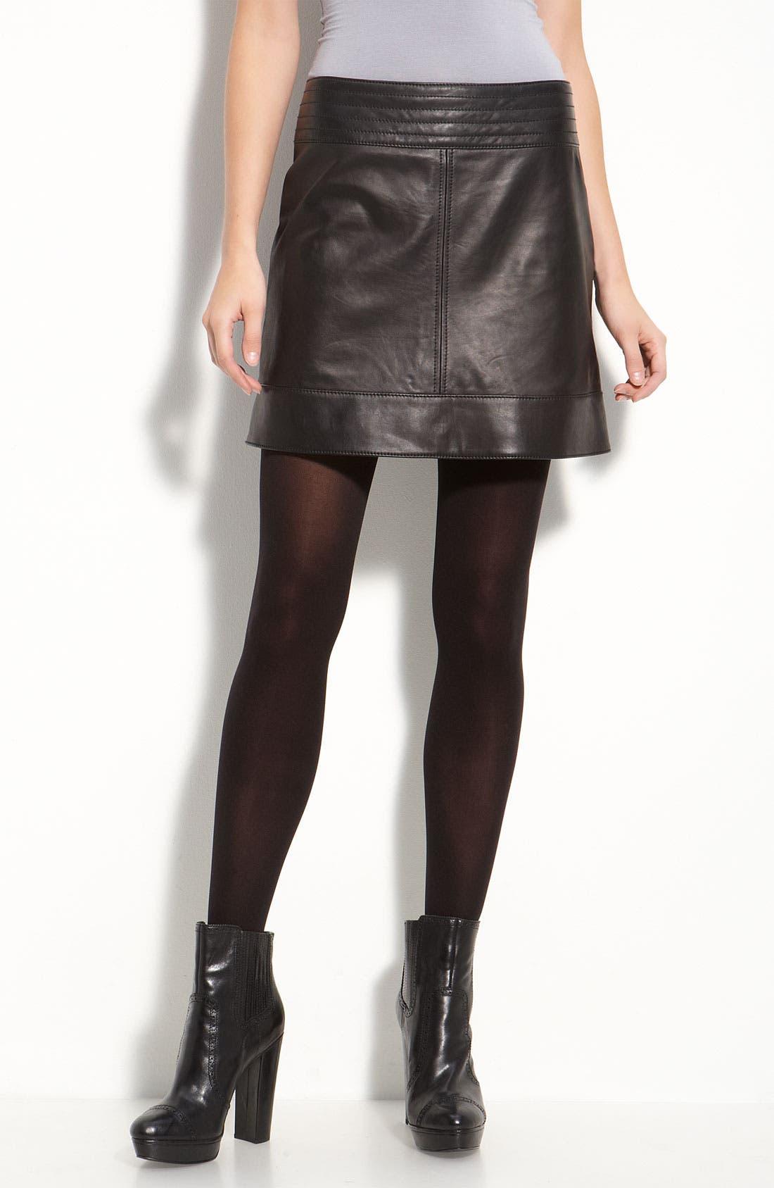 Alternate Image 2  - Trouvé Lambskin Leather Miniskirt
