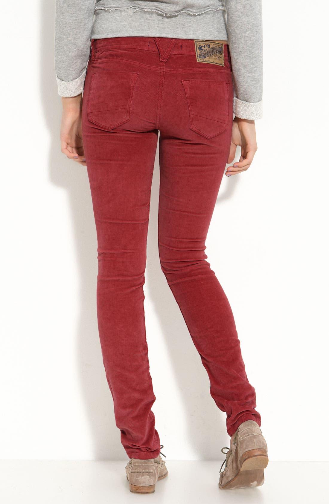 Main Image - Vigoss 'Soho' Skinny Stretch Corduroy Pants (Juniors)