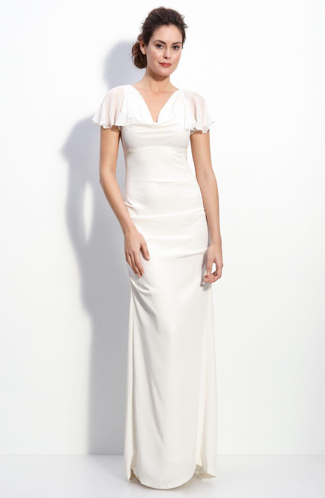 Alternate Image 1 Selected - Nicole Miller Silk Crêpe de Chine Gown